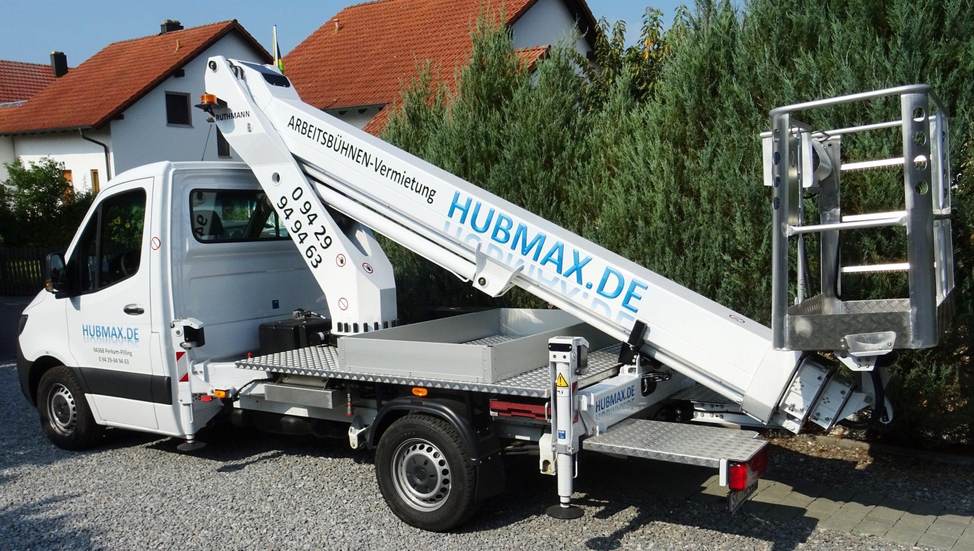 H U B M A X   GmbH --- Kfz-Hubarbeitsbühnen-Vermietung Werkzeug- & MASCHINENVERLEIH